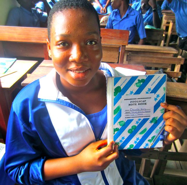 Okanta Kate aspires to be a famous writer. We honor her and her dreams as we celebrate International Day of the Girl coming up on Oct. 11.
