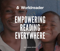 students from a school in Africa that received e-readers from Worldreader.