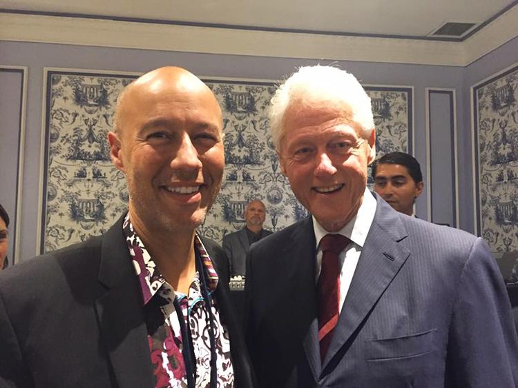 David Risher and Bill Clinton at the CGI 2015 Annual Meeting