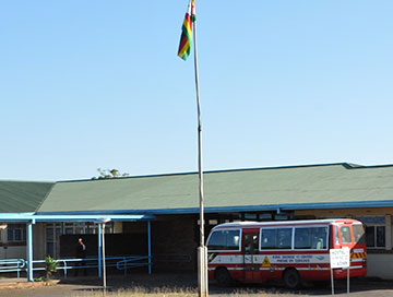 Exterior of King George VI Children's Centre, Worldreader's first Zimbabwe project