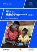 Cover of Ghana iREAD Study 2012-2014: Final Evaluation by Sarah Jaffe for Worldreader