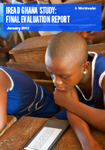 Cover of Worldreader's iREAD Ghana Study