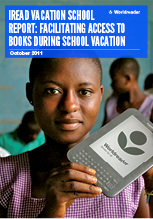 Cover of Worldreader's iREAD Vacations School Report