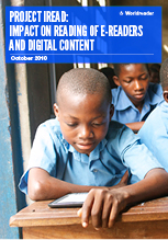 Cover of Worldreader's iREAD Impact on reading