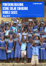 Cover of Worldreader's Powering Reading Using Solar Charging Kindle Cases