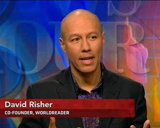 David Risher on PBS (screenshot)
