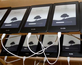 Kindles Charging at Worldreader SF (Photo by Brant Ward for The San Francisco Chronicle)