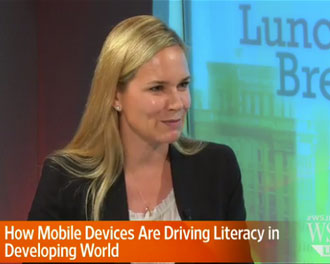 Worldreader Director of Communications Susan Moody on WSJ Live