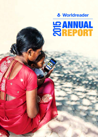 A mother reading to her child on her mobile phone