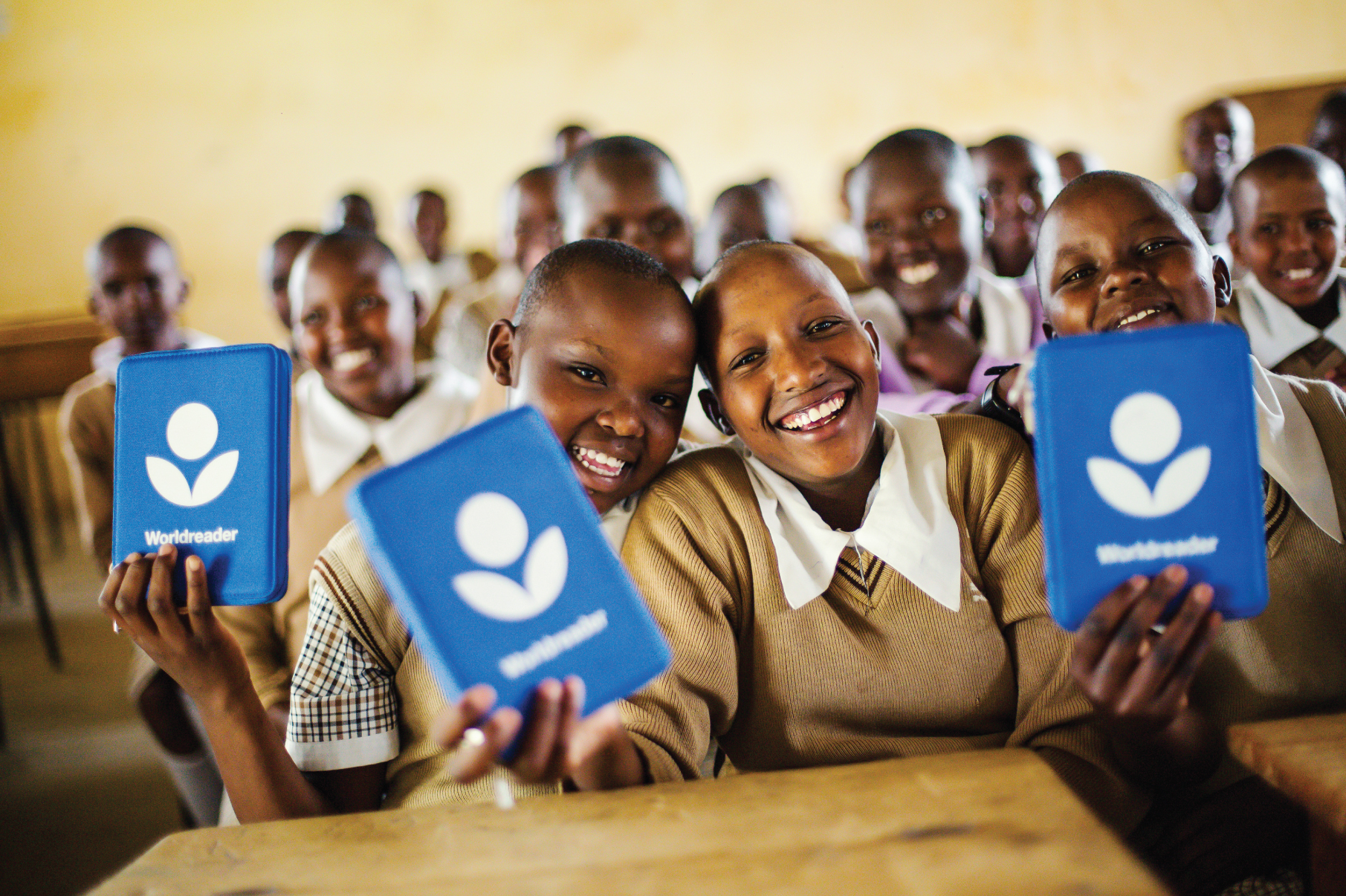 Happy Worldreader BLUE Box students