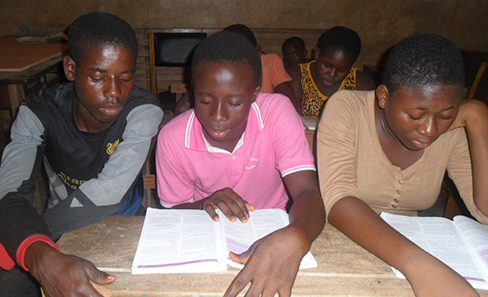 Students at Teacher Mante