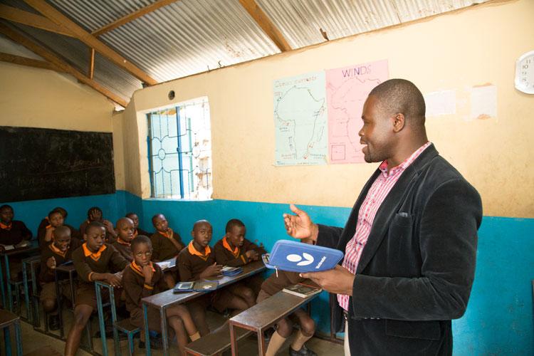 e-readers at magoso primary school in kenya