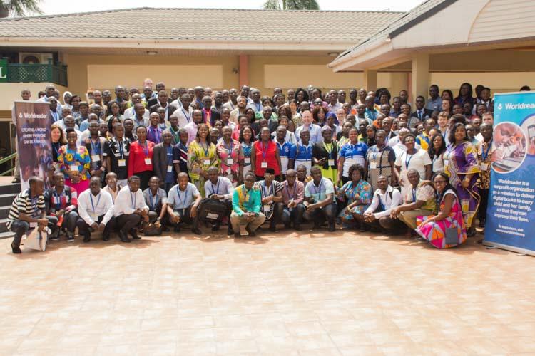 group photo west africa digital reading summit worldreader 2017